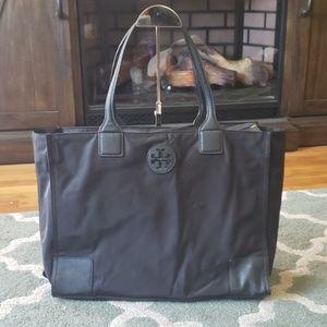 TORY BURCH Black Nylon Tote Bag